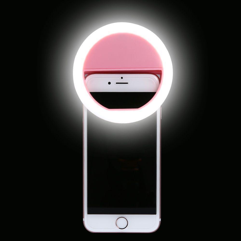 Селфи лампа, кольцевая на подставке с зажимом для телефона