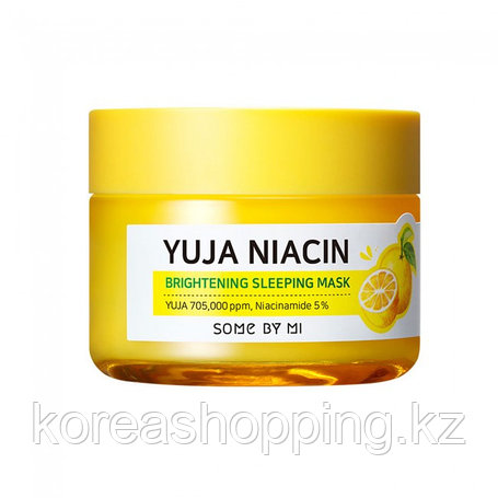 Ночная маска для лица с экстрактом юдзу Some By Mi Yuja Niacin 30 Days Miracle Brightening Sleeping Mask, фото 2