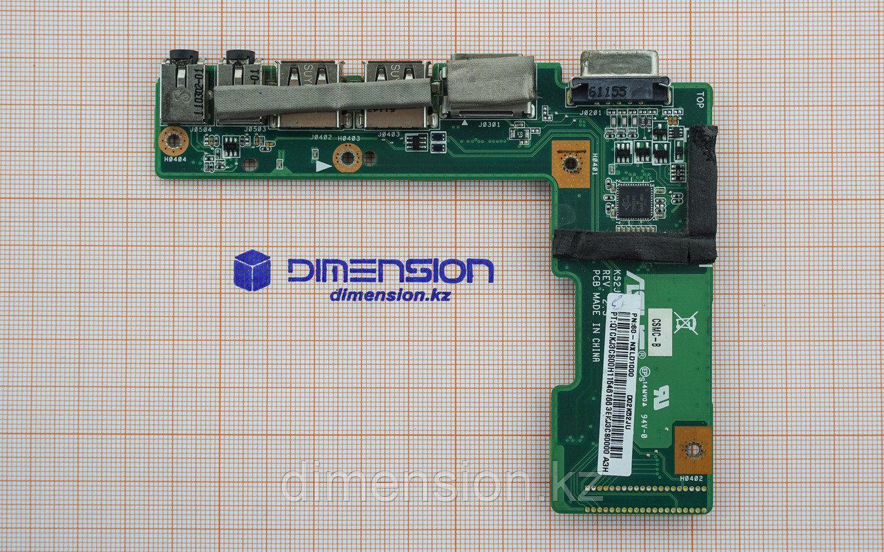 USB 2.0 Audio VGA HDMI разъем, плата для  ASUS K52J