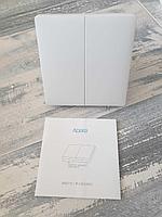 Умный выключатель двухклавишный Xiaomi Aqara Smart Switch (двойной, без нулевой линии, QBKG03LM, фото 1