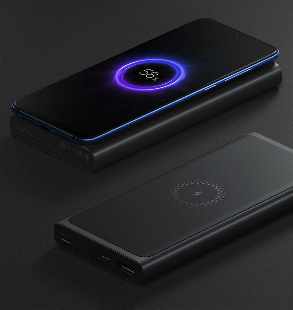 Внешний аккумулятор Xiaomi Mi Wireless Charger (10000 mAh, черный)
