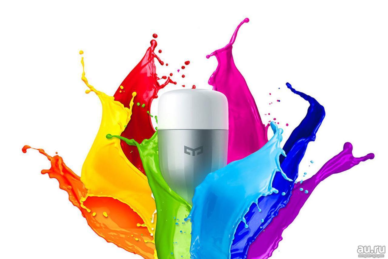 Умная Wi-fi лампа Xiaomi Yeelight Smart LED Bulb (Color) 1S YLDP13YL