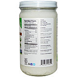 Органическое кокосовое масло первого холодного отжима нерафинированное, 680 мл, стеклянная банка, Nutiva, фото 2
