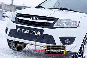 Зимняя заглушка решетки переднего бампера Lada Granta лифтбек 2014-