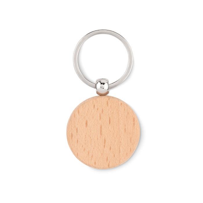 Круглый деревянный брелок, TOTY WOOD