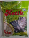 Котик Наполнитель древесный мелкие гранулы 5 кг.