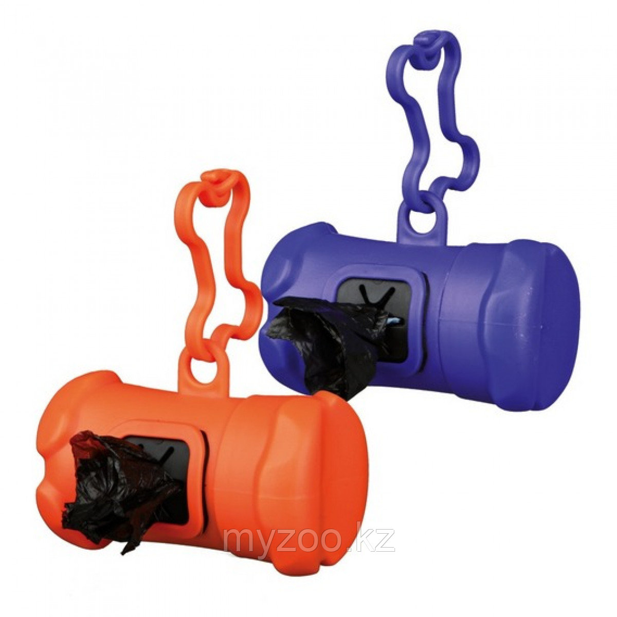 Пластиковая сумочка для собачьих экскрементов,  с креплением на поводок