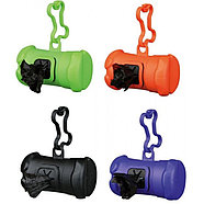 Пластиковая сумочка для собачьих экскрементов,  с креплением на поводок, фото 2