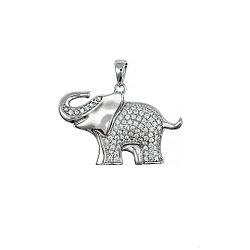 Серебряный кулон Слон Brosh Jewellery (Серебро 925) (серебряный)