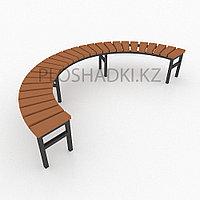 Скамейка деревянная полукркуглая, фото 1