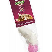 TitBit, Тит Бит Лапка пушистая кроличья, игрушка для кошек, мягкая упаковка