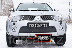 Зимняя заглушка решетки переднего бампера Mitsubishi L200 2007-2013