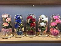 Розы в колбе, цветы в колбе с подсветкой