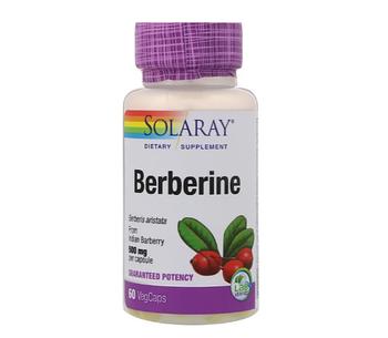 Solaray, Berberine, 500mg, 60 VegCaps