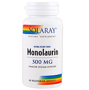 Solaray, Монолаурин, 500 мг, 60 вегетарианских капсул, фото 3