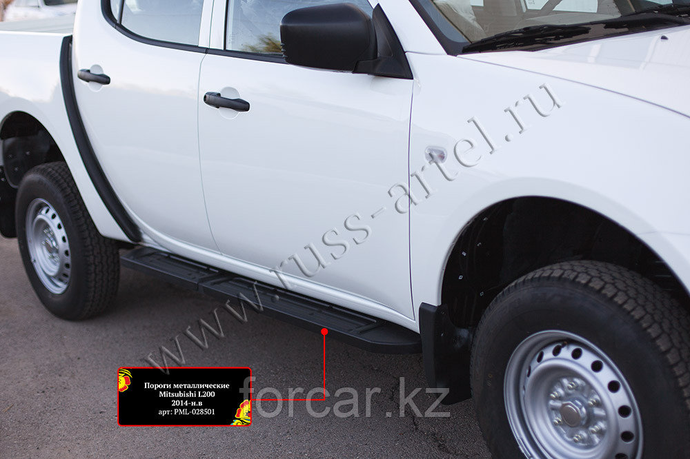 Пороги металлические Mitsubishi L200 2014-