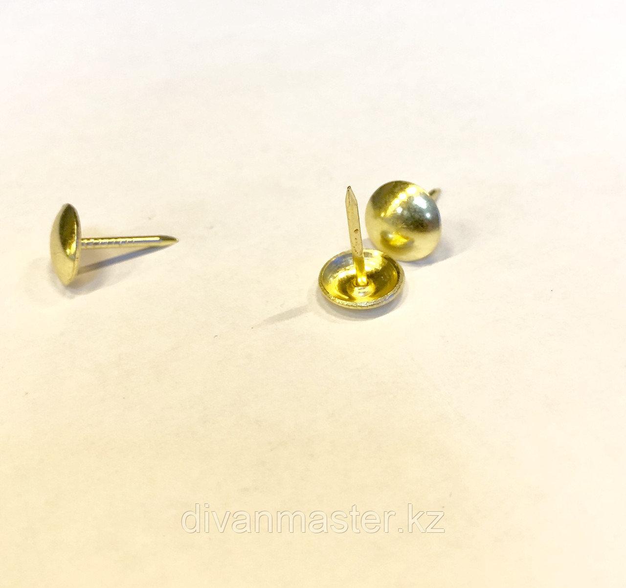 Гвозди декоративные 11 мм, золото - 500 штук.Китай