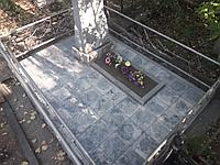 """Благоустройство мест захоронений  тротуарной плиткой  """"Колифорния"""""""