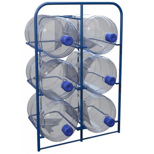 Стеллаж для 6 шт. 19 литровых бутылей с водой СВД 6 (Арт. 2337-T)