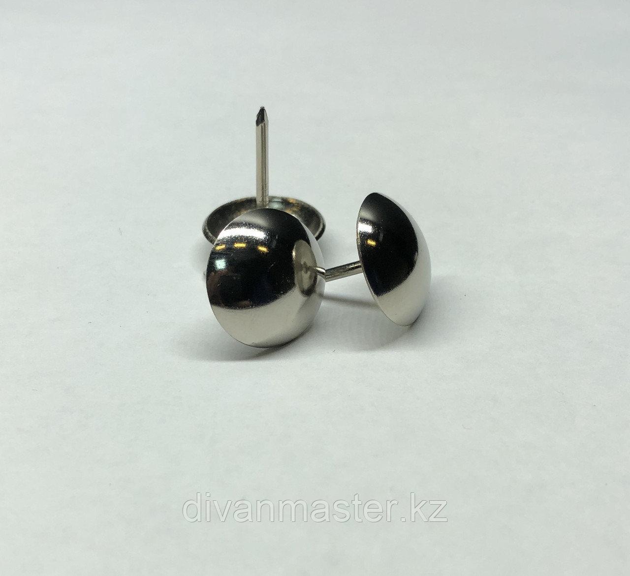 Гвозди декоративные 19 мм, никель - 200 штук.Китай