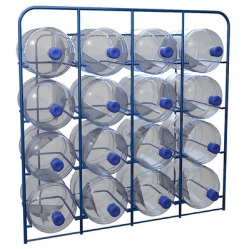 Стеллаж для 16 шт. 19 литровых бутылей с водой СВД 16 (Арт. 2340-T)