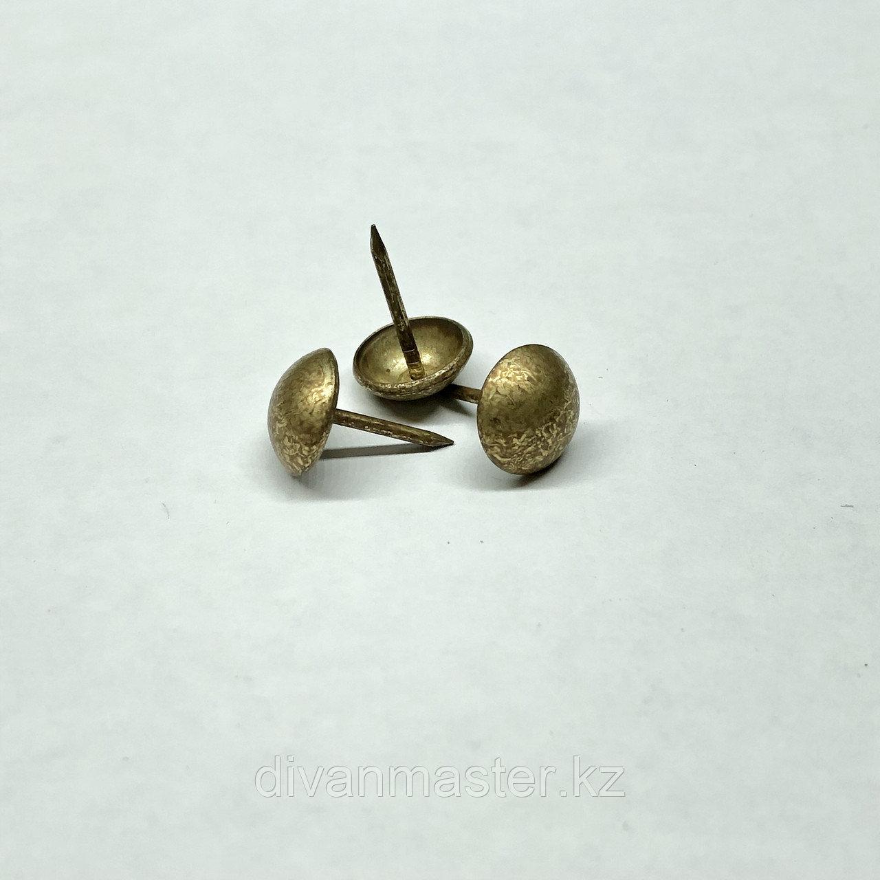 Гвозди декоративные 11 мм античная латунь- 1000 штук. Турция