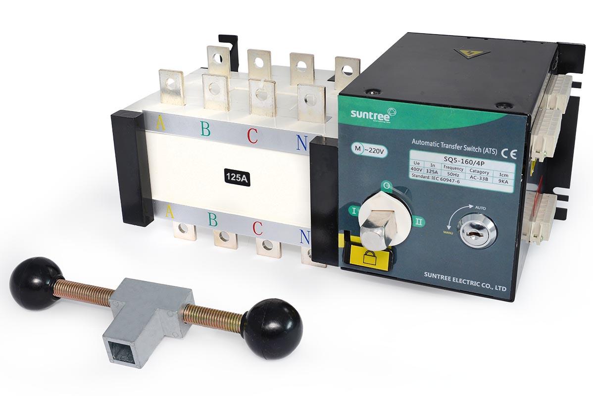 Реверсивный рубильник SQ5-160/4 ~400V IN125A