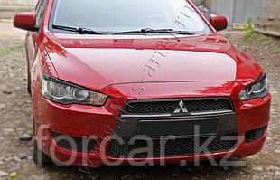 Накладки на передние фары Mitsubishi Lancer X 2007-2010