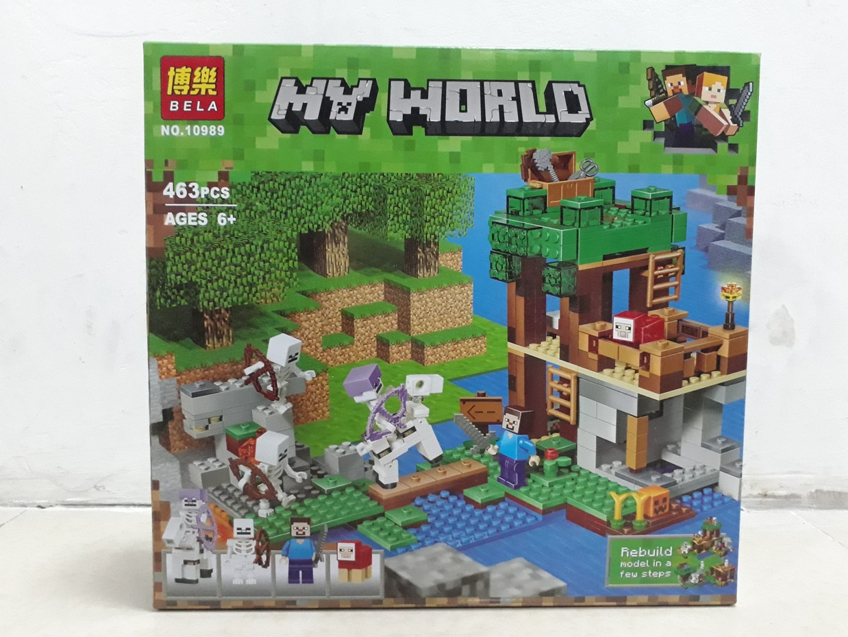 Конструктор Bela My world 10989 463 pcs. Minecraft. Майнкрафт