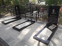"""Благоустройство мест захоронений  тротуарной плиткой  """"Комбинированной"""""""