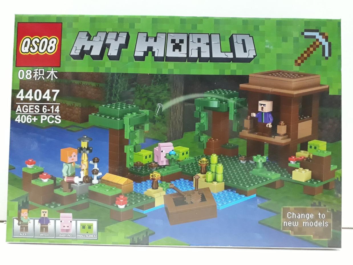 Конструктор QS08 My world 44047 406 pcs. Minecraft. Майнкрафт