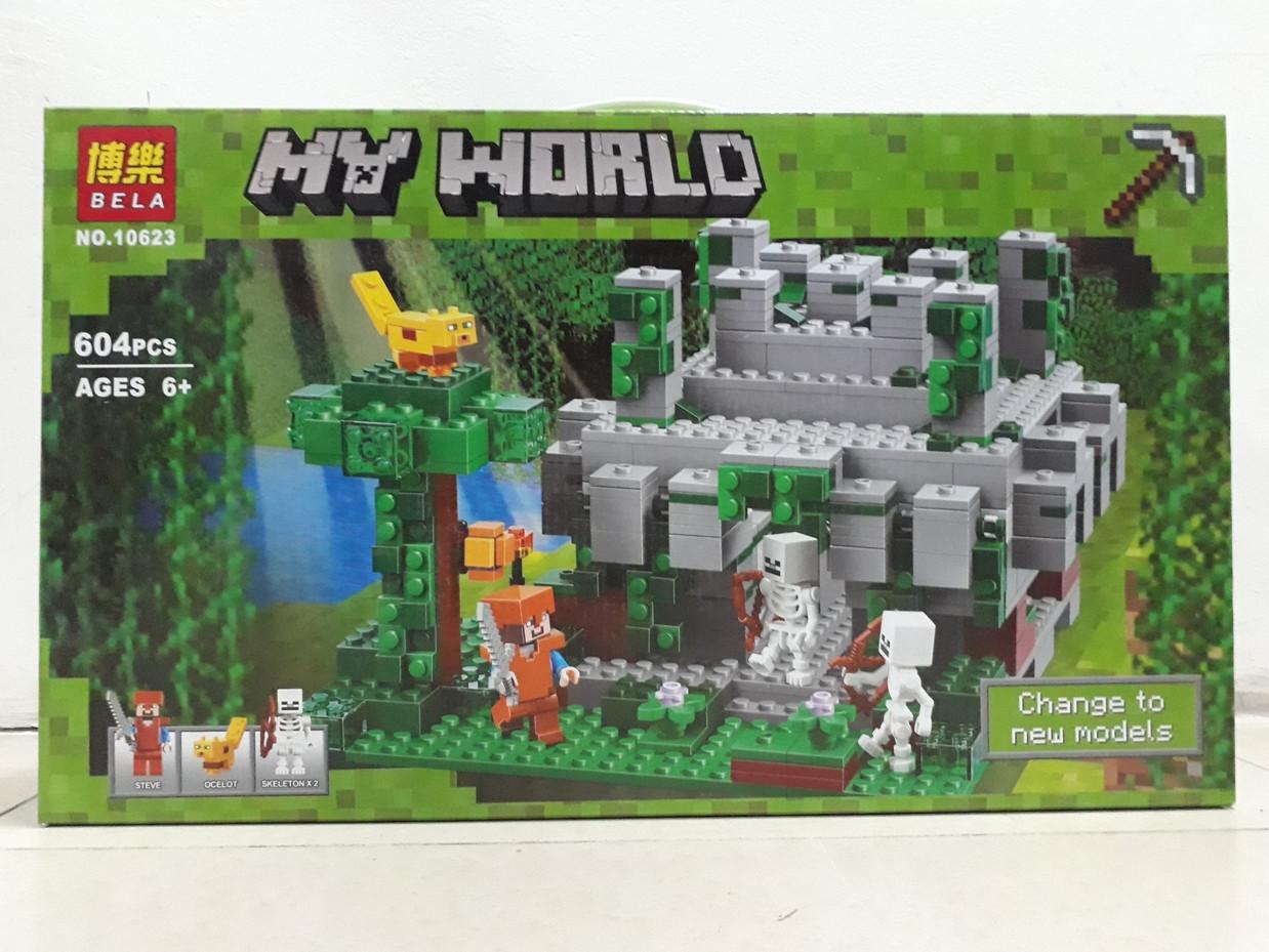 Конструктор Bela My world 10623 604 pcs. Minecraft. Майнкрафт