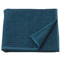 Полотенце банное 70х140 ВОГШЁН темно-синий ИКЕА, IKEA