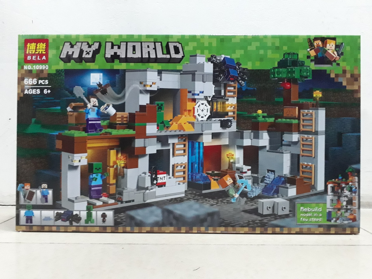 Конструктор Bela My world 10990 666 pcs. Minecraft. Майнкрафт
