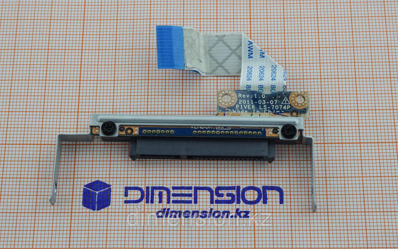 Шлейф с разъемом для жесткого диска HDD для ноутбука ACER Aspire One 722 (P1VE6)  LS-7074P