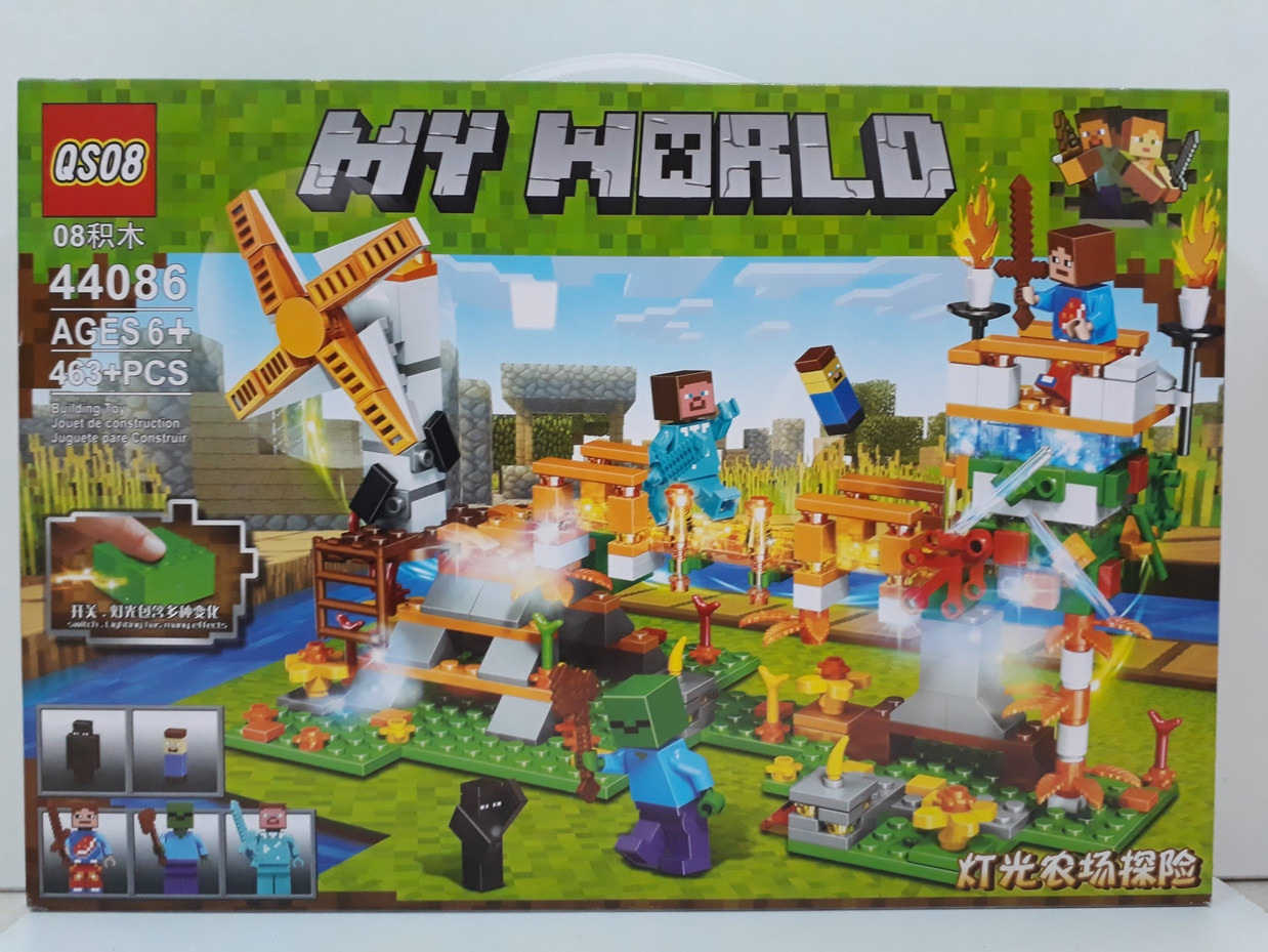 Конструктор QS08 My world 44086 463 pcs. Minecraft. Майнкрафт