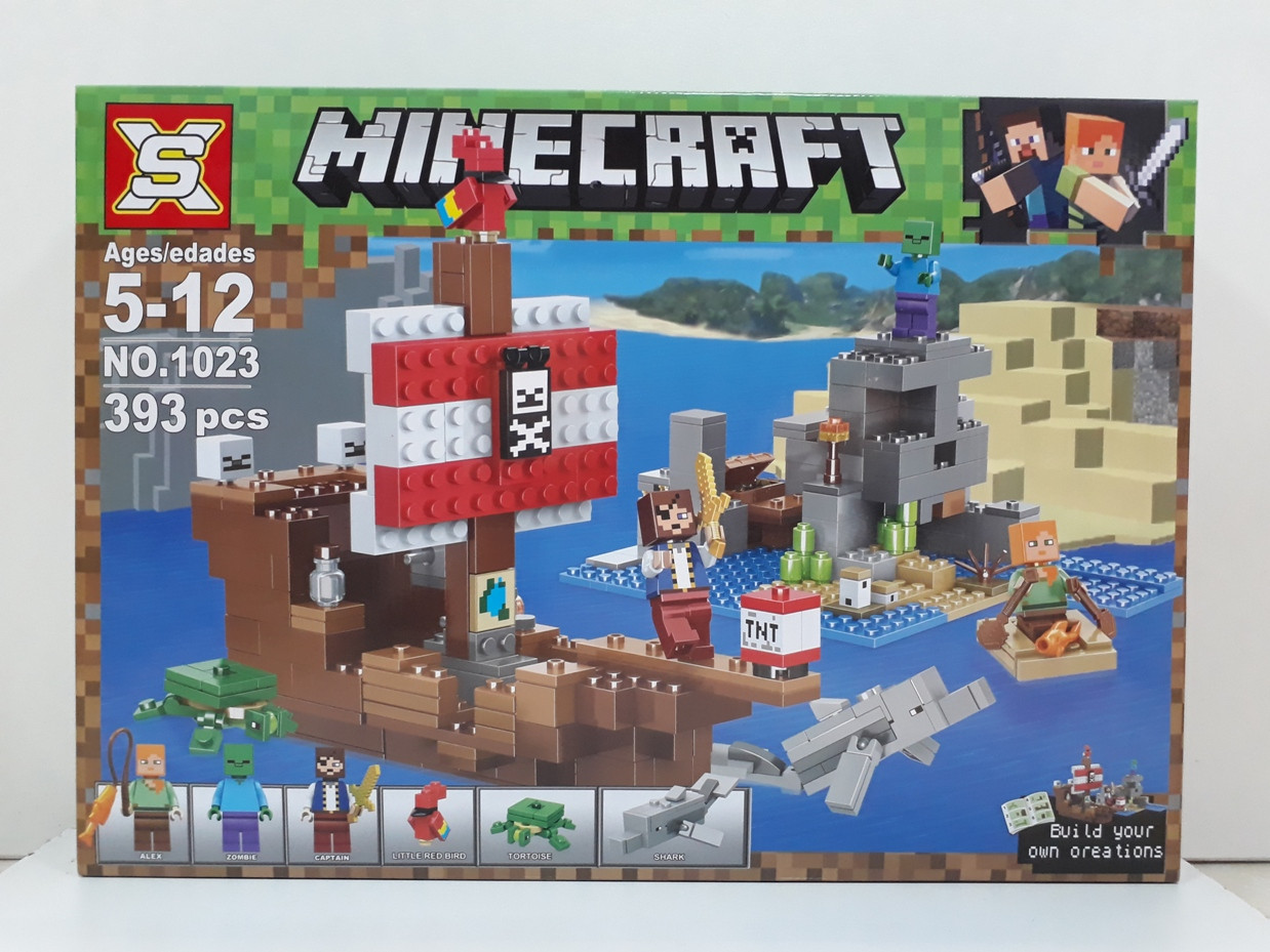 Конструктор Minecraft 1023 393 pcs. My world. Майнкрафт