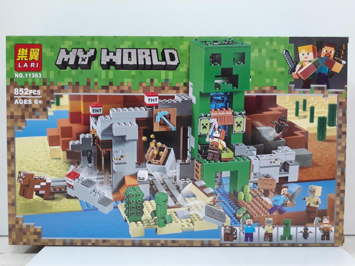 Конструктор LARI My world 11363 852 pcs. Minecraft. Майнкрафт