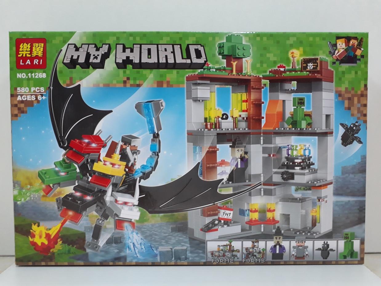 Конструктор LARI My world 11268 580 pcs. Minecraft. Майнкрафт