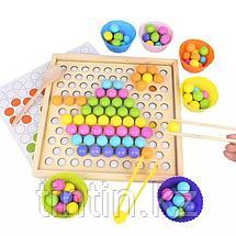 Деревянная шариковая мозаика 2 в 1: Мозаика и Игра Память, фото 3