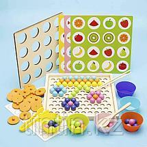 Деревянная шариковая мозаика 2 в 1: Мозаика и Игра Память, фото 2