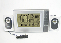 Беспроводная метеостанция с 2 радиодатчика: для сауны до 140°C и улицы температура и влажность, фото 1