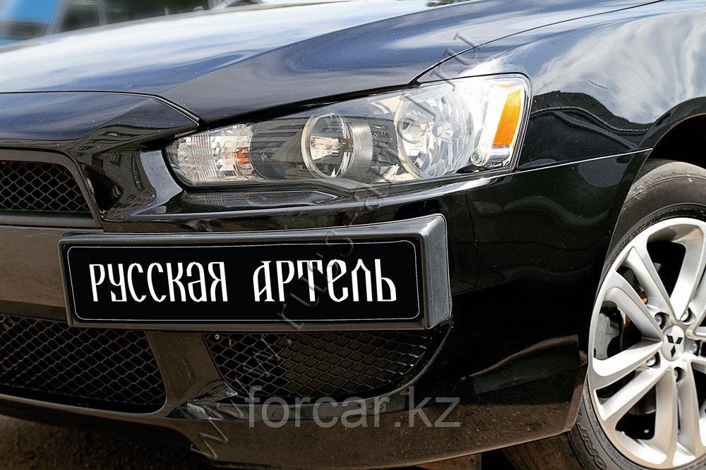 Накладка под номерной знак боковая Mitsubishi Lancer X 2007-2010