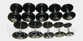Гантельный ряд обрезиненный Matrix 2,5-25 кг (10 пар)
