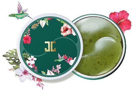 Гидрогелевые патчи с лепестками зелёного чая Jayjun Green Tea Eye Gel Patch, фото 2