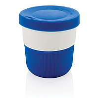 Стакан из PLA для кофе с собой, 280 мл, синий, , высота 8,6 см., диаметр 8,6 см., P432.895