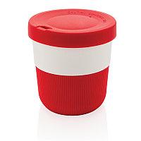 Стакан из PLA для кофе с собой, 280 мл, красный, , высота 8,6 см., диаметр 8,6 см., P432.894