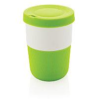 Стакан из PLA для кофе с собой 380 мл, зеленый, , высота 11,5 см., диаметр 8,6 см., P432.837