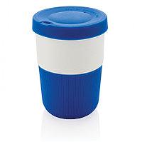 Стакан из PLA для кофе с собой 380 мл, синий, , высота 11,5 см., диаметр 8,6 см., P432.835