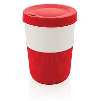 Стакан из PLA для кофе с собой 380 мл, красный, , высота 11,5 см., диаметр 8,6 см., P432.834